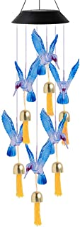 Hanging Solar Light Butterfly Bell Solar Wind Chime Color Changing Solar Garden Light Outdoor Waterproof for Garden Yard D...