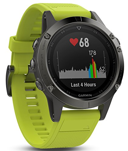 Garmin Fēnix 5 Gray - Montre GPS Multisports Outdoor - Bracelet Jaune (Reconditionné)