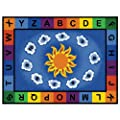 Carpets for Kids 9412 Literacy Sunny Day Learn and Play Kids Rug