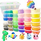 36 Colors Air Dry Clay Packed with Box No-Sticky and Non-Toxic Magic Clay Ultra-Light Plasticine Clay DIY Creative Modeling Dough with Project Booklet