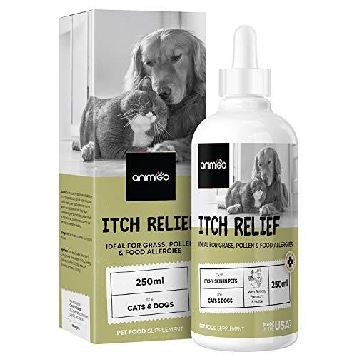 Animigo Juckreiz Linderung - 250ml Tropfen - Itch Relief mit Ginkgo, Augentrost & Brennnessel