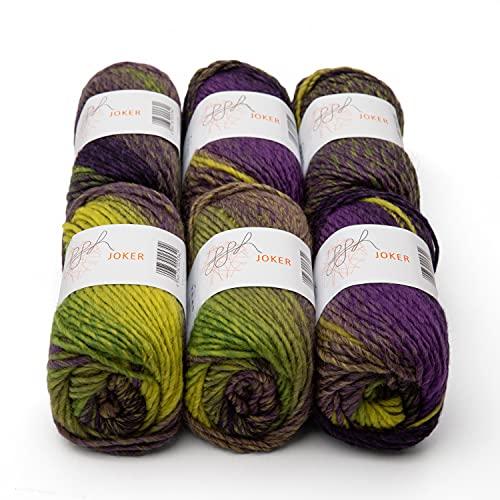 ggh Joker Box – 6 ovillos – mezcla de lana virgen con degradado – Lana para punto o ganchillo...