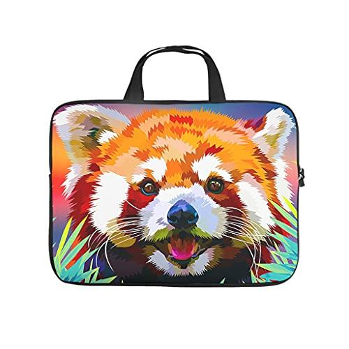 Facbalaign Funda para portátil con asa, diseño de panda roja