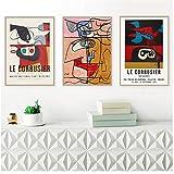 Französisch Le Corbusier Ausstellung Poster Vintage Anders