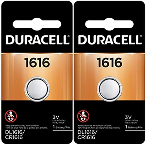 Duracell 1616 DL1616 CR1616 DL1616B2PK Coin Cell Watch Battery 3.0 Volt Lithium, 2 Count (Pack of 1)