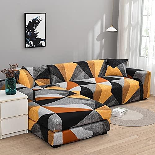 WXQY Wohnzimmer elastische L-förmige Sofa Schutzhülle rutschfeste Sofa Schutzhülle Haustier Schutzhülle A15 3-Sitzer