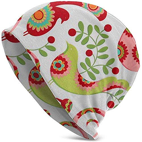 Marlon Kitty Christmas Pretty Bird Santa Red Frauen Baggy Slouchy Beanie Chemo Hut Mütze Schal