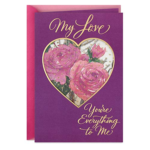 Hallmark Romantic Mothers Day Card for Wife or Girlfriend (You're Everything to Me)