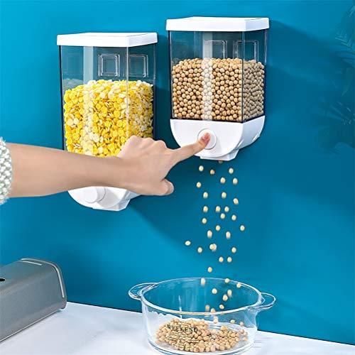 Vssictor Lebensmittelspender,Luftdichter Aufbewahrungsbehälter für Lebensmittel aus Kunststoff mit Wandmontage für die Organisation und Aufbewahrung von Küchenvorratskammern
