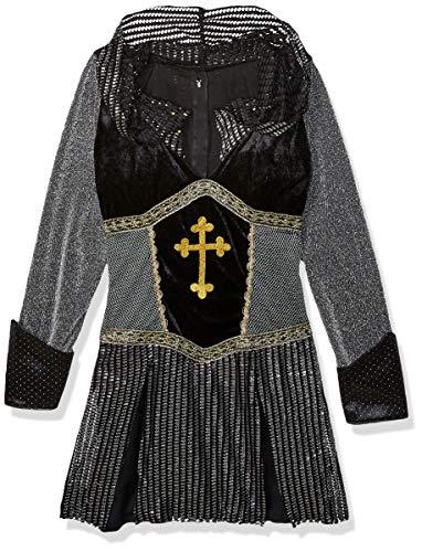Leg Avenue 85202 - Kostüm Joan of Arc, Größe L, schwarz/Silber