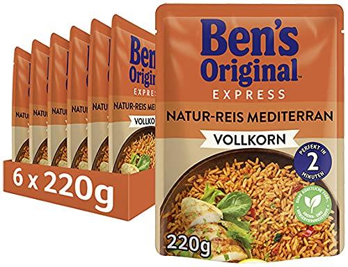 Ben's Original Express-Reis Naturreis Mediterran, 6 Packungen (6 x 220g)