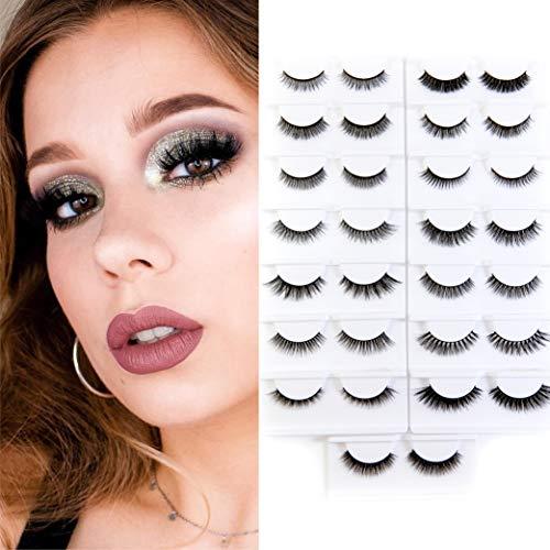 BEPHOLAN False Lashes 15 Pairs 3D Mink Lashes 100% Handmade False Eyelashes Reausable Fake Eyelashes