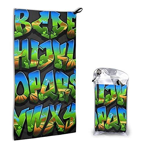 Toallas de Playa de Secado rápido Graffiti Swag Graffiti Font,Toallas de Playa sin Arena Toalla de baño portátil Toalla de Playa de Viaje,Toalla de Deportes de natación