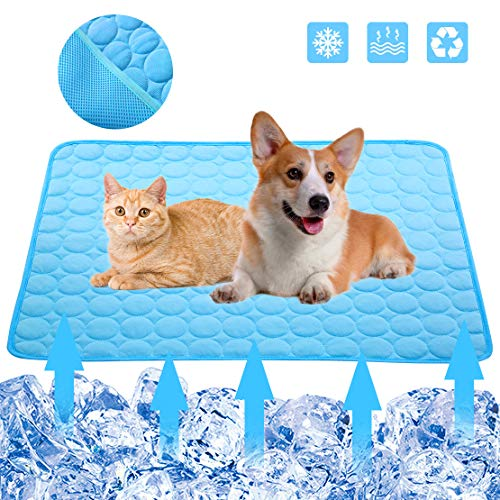Mojonnie Dog Cooling Mat, Pet Cooling Pads for Dogs, Cooling Bed for Cats, Portable Pet Cooling...