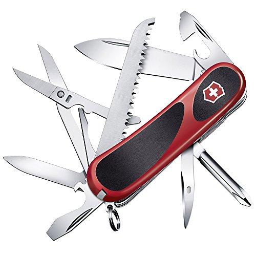 Victorinox Evolution 18 Couteau de Poche Suisse, Léger, Multitool, 15 Fonctions, Lame, Echelles Ergonomiques, Rouge/Noir