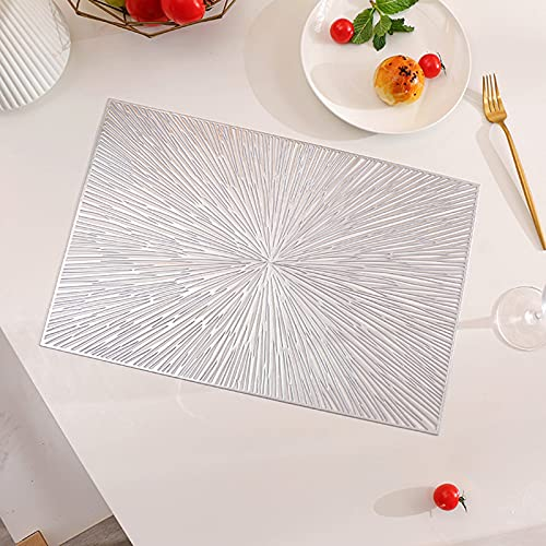 Küchen-Tischsets Set von 4, Küche Platz Matte Umweltfreundliche, rutschfeste waschbare PVC-hitzebeständige Tischmatten für Küche Ess-Terrasse, Anti-Skid-Küche Esstisch...