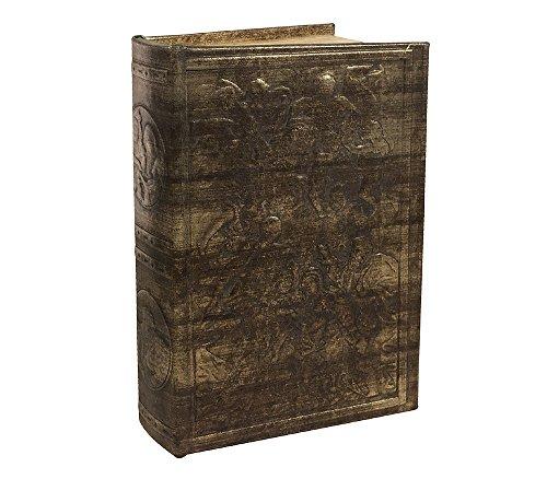 zeitzone Hohles Buch mit Geheimfach Geldkassette Abschließbar Antik-Stil Buchsafe 26cm