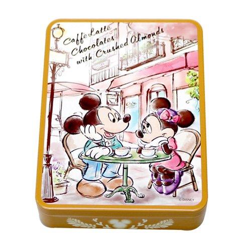 ミッキーマウス ミニーマウス 缶入りカフェラテチョコレート(アーモンド入り) お菓子 コーヒー お土産 【東京ディズニーリゾート限定】