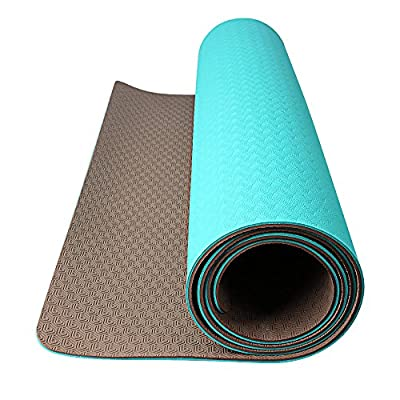 """OXA TPE Eco Premium Yoga Mat, 6mm Extra Thick 71""""X 28"""" Non-Slip Anti-tear Recyclable Antibacterial Mat for Workout Fitness with Carrying Strap and Yoga Belt"""