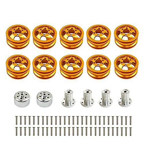 Farleshop Hub de Rueda de Rueda de Metal de 1set para W-P-L C14 C24 B14 B24 B16 B36 Six Duro DE EXCUENTE RC Repuestos de Coche (tamaño : Orange)