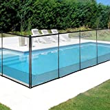 Happybuy Removable Pool Safety Fence, 4FTx12FT, Black (1 Piece)