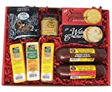 WISCONSIN'S BEST and WISCONSIN CHEESE COMPANY'S | Deluxe Classic Gift Basket | Summer Sausage | 100% Wisconsin Cheese and Crackers | Pretzels & Mustard | Cheddar | Birthday Gift | Amazon Prime