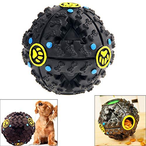 Hundespielzeug Kugeldurchmesser: 9 cm Asun, Haustier Hunde- und Katzenfutter Spender screaky Giggle Quack juristische Ausbildung Spielzeug Chew Ball (Color : Color1)