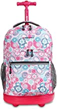 J World New York Sunrise Rolling Backpack, Blue Raspberry, One Size