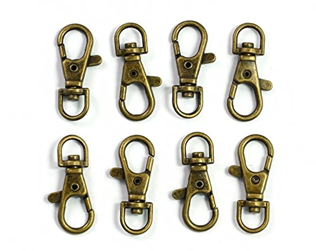 ALL in ONE Lobster Claw Swivel Clasps Lobster Snap Clasp Hook for Key Ring DIY Craft Jewelry Making 1-1/2