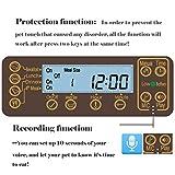 Homedecoam Programmierbarer Automatischer Futterautomat Futterspender für Hund und Katze Portion Control & Voice Recording - 8