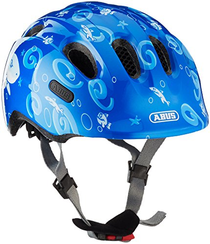 ABUS Unisex Jugend SMILEY 2.0 Fahrradhelm, blue sharky, M
