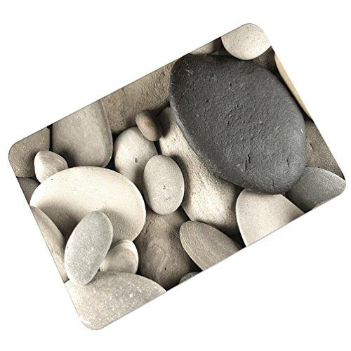YOUJIA Fußmatte Kopfsteinpflaster Muster Sauberlaufmatte Fußabstreifer Türfußmatte Eingangsmatte Türmatte (Stein #7, 45 * 70cm)