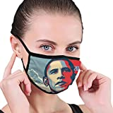 Former President Of Usa Barack Obama Dustproof Black Edge Filter For Biking, Camping, Running, Traveling, Outdoor Activities Washable Reusable Cover Black One Size