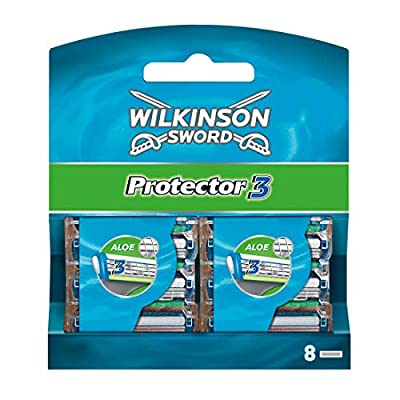 Wilkinson Sword Protector 3 Men's Razor Blade Refills x 8 by Energizer Group