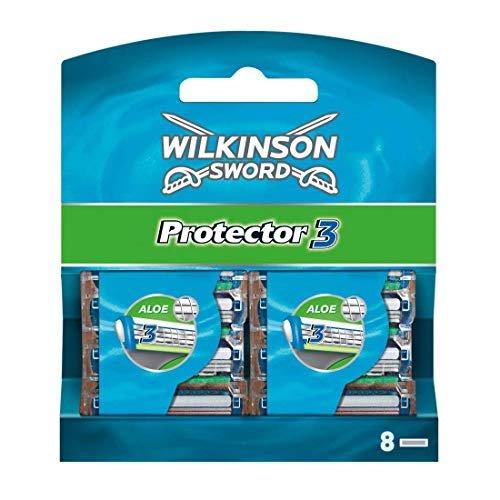 Wilkinson Sword Protector 3 Rasierklingen für Herren Rasierer, 8 Stück