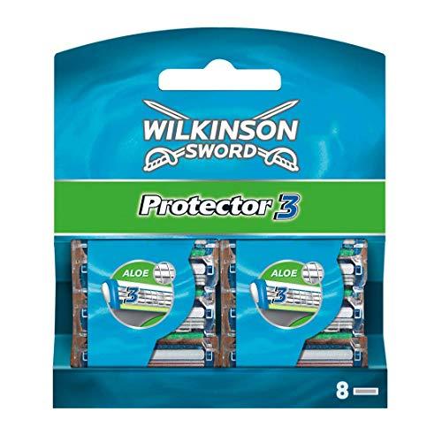 Wilkinson Sword Protector 3 Rasierklingen für Herren, 8 Klingen Rasierer, 8 St