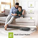 Kyvol cybovac e20 robot vacuum cleaner, 2000pa suction, 150 min runtime, boundary strips included, quiet, super-thin… 16 powerful suction & ultra-thin: 2000pa strong suction power, are suitable for hard floors to medium-pile carpets. Special design for daily cleaning, cybovac e20 can easily clean various dust, hairs, and cat litter from your room, carpet, and under furniture. Kyvol robotic vacuum cleaner has a slim 2. 85-inch body. It's thin enough to reach every corner of a house or narrow space, clean leftover dirty areas, and keep your house neat 150 min runtime & self-charging: this automatic vacuum cleaner robot has a high capacity lithium-ion battery of 3200mah and a charging base. It could continuously work about 150 minutes(max) to meet the cleaning needs from the living room to the bedroom. When the battery is low(light turns to orange), it will automatically return to the charging base smart app & voice control: you can easily create a cleaning schedule, change the cleaning mode, and control the cleaning direction by using the kyvol app. The auto vacuum cleaner robot is also compatible with alexa and google assistant, allowing users to let the robot start and stop the cleaning by voice commands. Use robots to save you time and energy