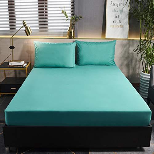 BOLO Juego de sábanas de bolsillo extra profundas, fundas de colchón de microfibra cepillada impresas, bolsillo profundo, 135 x 200 + 30 cm