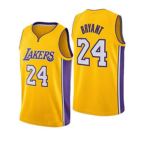 U/A Herren Basketball Trikots mit Chip, Lakers 24# Kobe Bryant Ärmelloses Besticktes Jersey Swinger Trikot