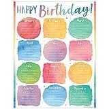 preschool birthday chart - Teacher Created Resources Watercolor Happy Birthday Chart