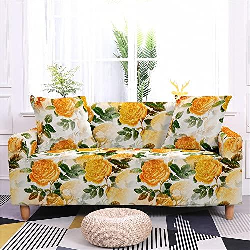WXQY Sala de Estar Funda de sofá elástica con Estampado Floral Funda de sofá elástica con Todo Incluido Funda de sillón Funda de sofá Antideslizante A5 2 plazas