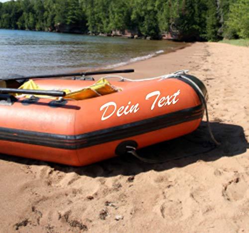 Shirtstown rubberboot gewenste naam sticker 2 stuks 20cm