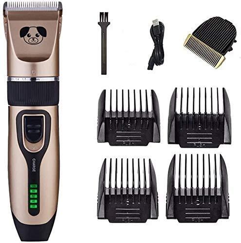 Tondeuse électrique Haircut Kit Cheveux professionnels Haircut Outils ménagers Clippers Dog Clippers cheveux Outils for animaux Toilettage, sans fil rechargeable Cat rasoir, avec LED d'affichage élect