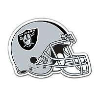 """Fremont Die NFL Oakland Raiders Vinyl Helmet Magnet, 8"""", Team Colors"""
