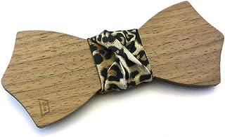 Papillon legno GIGETTO Nodo Leopardato Nero Made in Italy