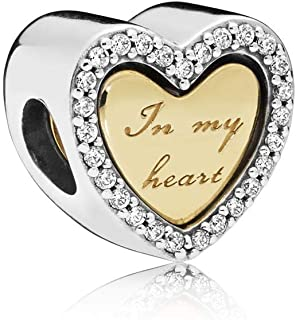 In My Heart 18k Gold Plated PANDORA Shine Collection Charm - 767606CZ