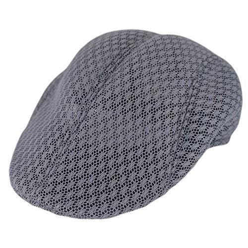 JK Fashon Gorra de Boina de Verano para Hombres para Rejilla de ventilación Unisex Gorras Masculinas Casual Cómoda Belleza Sombrero Adulto sólido Cap-2, China, Talla única