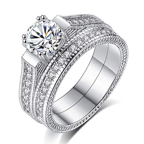Zirkoon Ring Ingelegd Met Edelsteen Paar Ring Mode Persoonlijkheid Sieraden Dames Eenvoudige Wilde Sieraden Geschikt Voor Verjaardagscadeautjes,7#