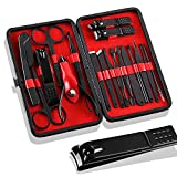 Manicure Set 18 in 1 Nail Clippers Set Stainless Steel Manicure Set (red)