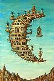 Salvador Dali Living on The Moon Poster No Frame (24 x 36)